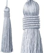 Jones Curtain Rope Key Tassel Metallic, Silver