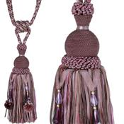 Jones Rope Curtain Tieback Interlude Beaded, Aubergine
