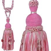 Jones Rope Curtain Tieback Interlude Beaded, Cerise
