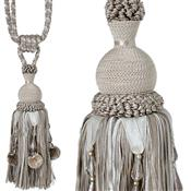 Jones Rope Curtain Tieback Interlude Beaded, Latte
