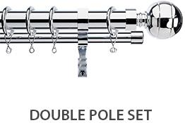 Integra Double Layer Curtain Pole Chrome