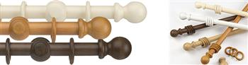 Universal 28mm Wood Curtain Poles