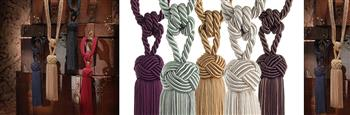 Swish Cheviot Rope Curtain Tiebacks