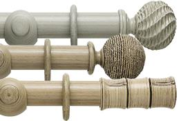 Origins 35mm, 45mm Wood Curtain Poles