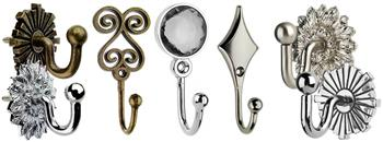 Swish Curtain Tieback Hooks