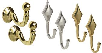 Decorative Tieback Hooks & Holdbacks
