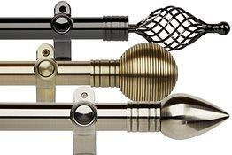 Eyelet Metal Curtain Pole Sets