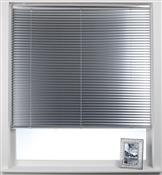 Swish Cordless Venetian Blind 25mm Slats, Brushed Aluminium