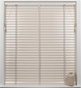 Universal Hardwood 50mm Slat Venetian Blind, Cream