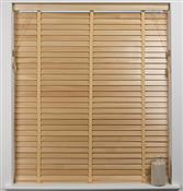 Universal Hardwood 50mm Slat Venetian Blind, Natural