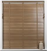 Universal Hardwood 50mm Slat Venetian Blind, Oak