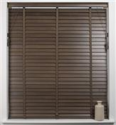 Universal Hardwood 50mm Slat Venetian Blind, Walnut