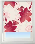 Universal Patterned Blackout Roller Blind, Lily Red