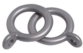 Speedy 13mm-16mm Curtain Pole Rings, Silver