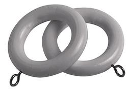 Speedy County Curtain Pole Rings 28mm, Light Grey