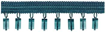 Jones Principal Beaded Fringe, Teal
