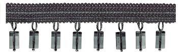 Jones Principal Beaded Fringe, Steel