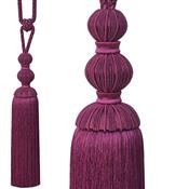Jones Bexley Rope Curtain Tieback, Raspberry