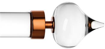 Byron & Byron Halo 35mm, 45mm, 55mm Acrylic Curtain Pole, Metal Rings, Copper Stellar