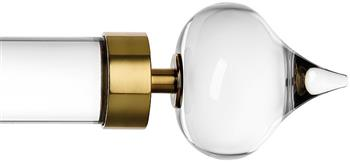 Byron & Byron Halo 35mm, 45mm, 55mm Acrylic Pole, Metal Rings,Burnished Brass Stellar