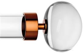 Byron & Byron Halo, 55mm Acrylic Curtain Pole, Acrylic Rings, Copper Orion