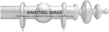 Advent 35mm Metallic Painted Wood Curtain Pole, Antique Gold, Classic Turned