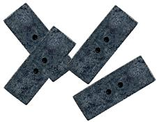 Hallis Lead Rectangular Weights 10g