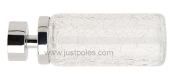 Swish Mix & Match 19mm Crackled Glass Cylinder, Chrome
