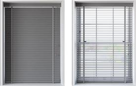 Speedy 50mm Slat Faux Wood Venetian Blind, Light Grey