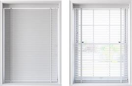 Speedy 50mm Slat Faux Wood Venetian Blind, White