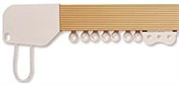 Hallis Superglide Corded Gold Metal Curtain Track