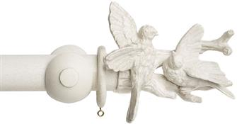 Acanthus Garden 45mm Curtain Pole, Faded White, Birds