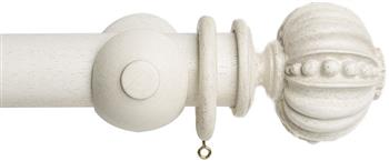 Acanthus Garden 45mm Curtain Pole, Faded White, Pomegranate