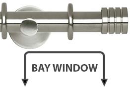 Neo 28mm Bay Window Curtain Pole Stainless Steel Stud